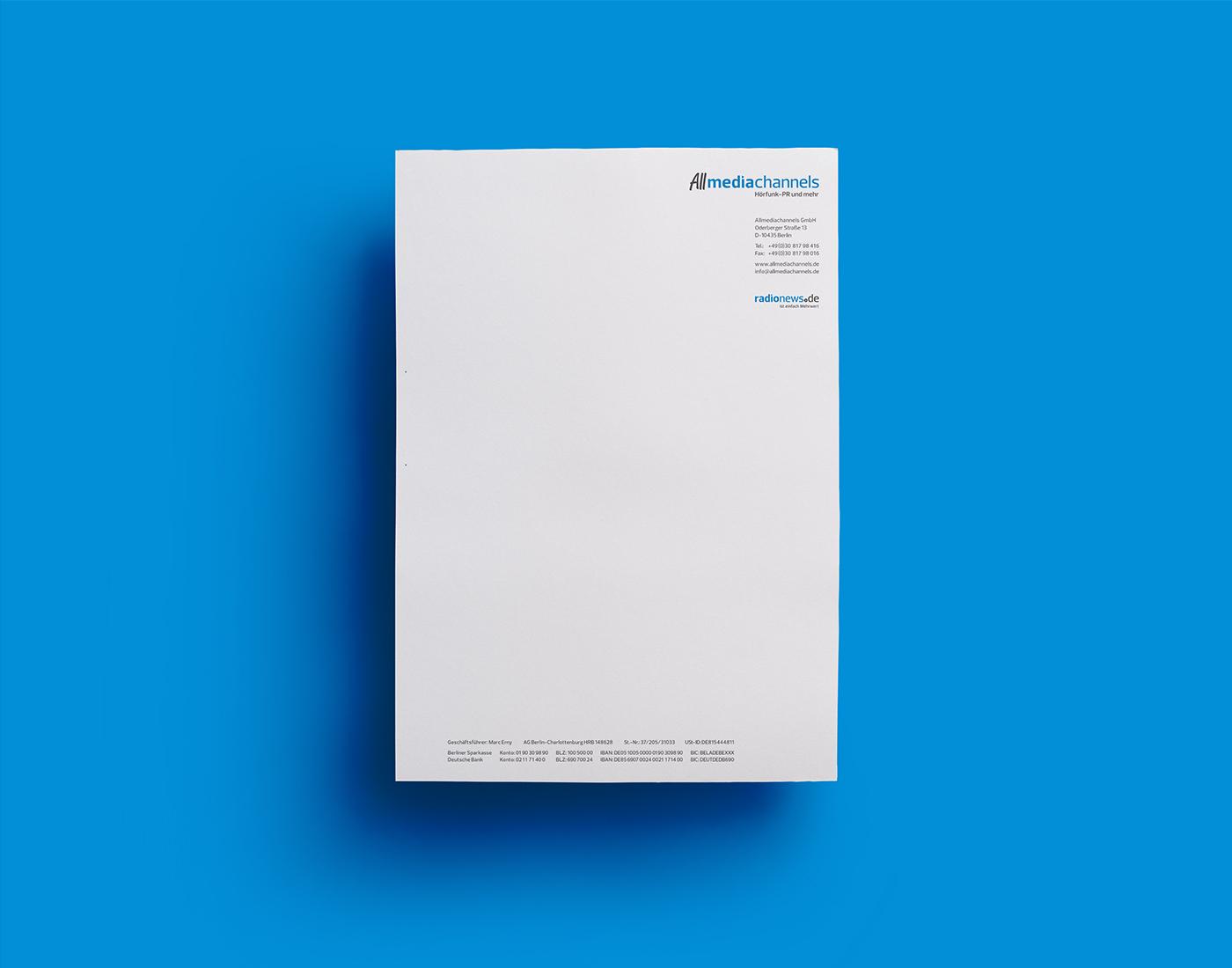 Allmediachannels - Briefbogen