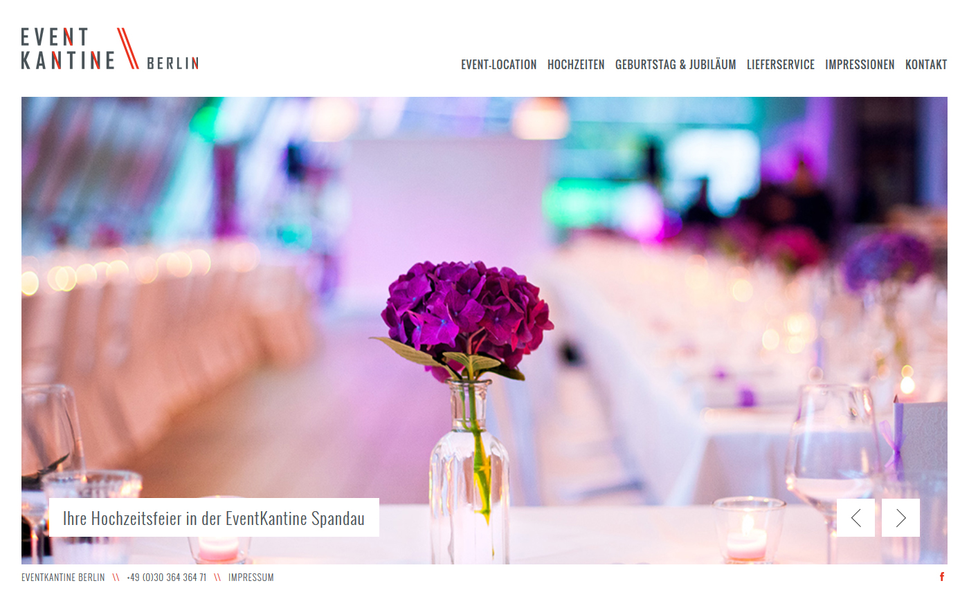 EventKantine Berlin - Website