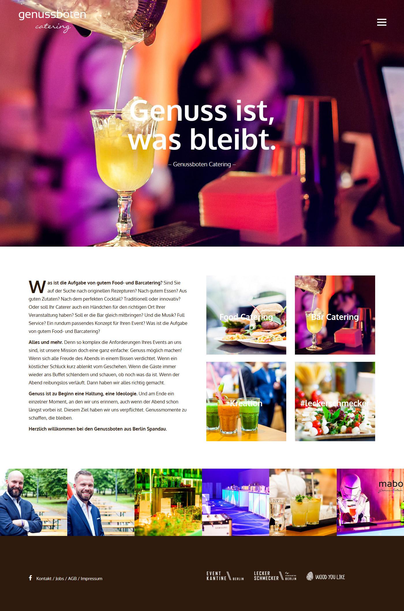 Genussboten Catering - Website
