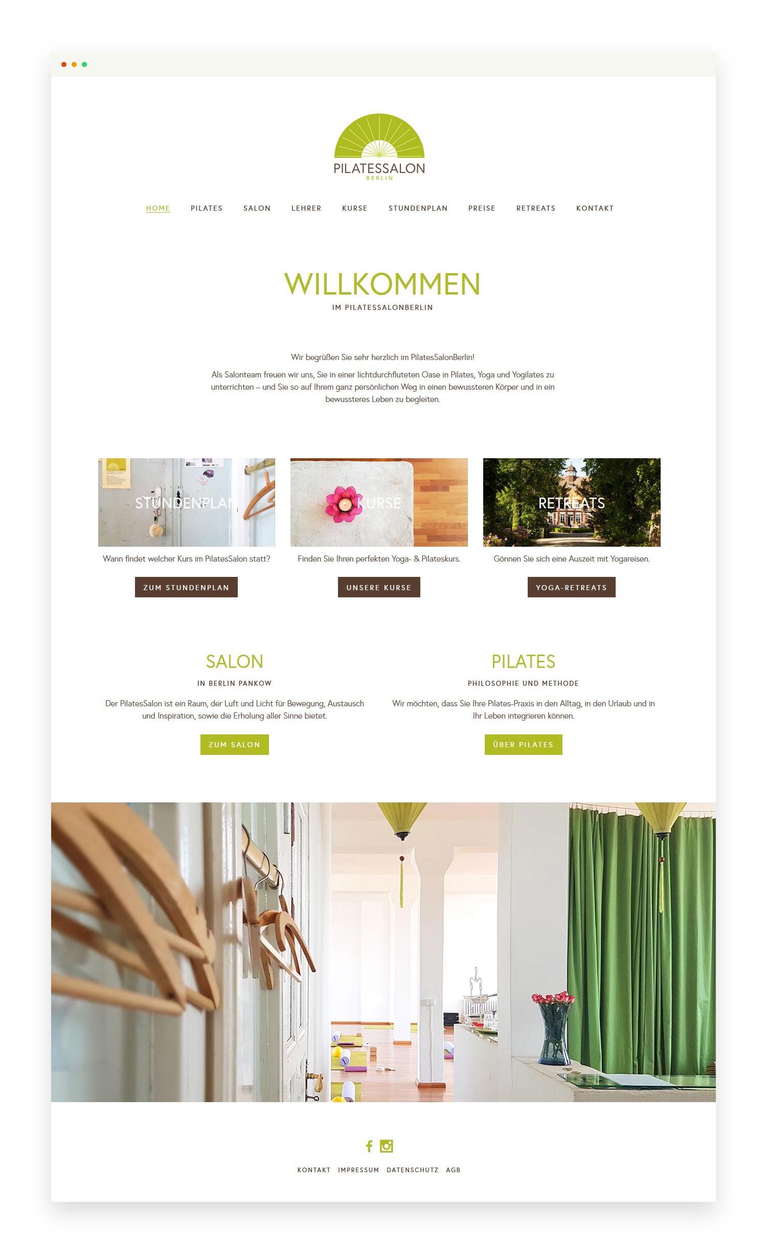 PilatesSalonBerlin - Website