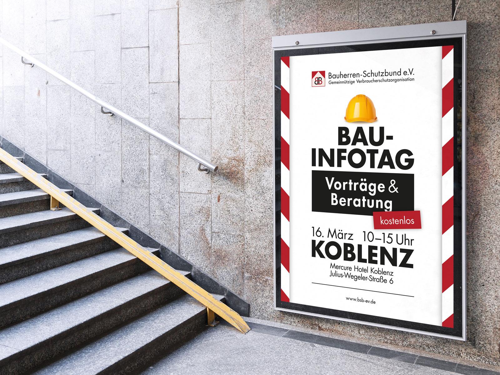 Bauherren Schutzbund e.V. - Infotag Plakat